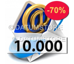 10000 Email Shipments With DATUMSENDER