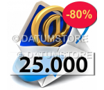 25000 Email Shipments With DATUMSENDER