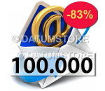 100000 Email Shipments With DATUMSENDER